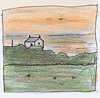 sunset sketch_72